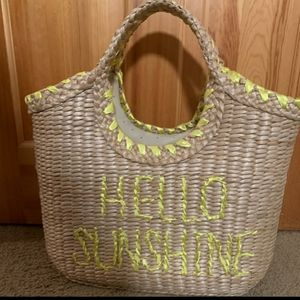 Brand New Kate Spade Straw Bag